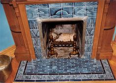 Sunset and Herons tile victorian style fireplace tiles Fireplace Hearth Tiles, Victorian Fireplace Tiles, Fireplace Update, Victorian Tiles, Antique Tiles, Home Fireplace, Fireplace Remodel, Fireplace Ideas, Victorian Houses