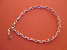 pink braided anklet hippy boho gypsy summer beach festival friendship