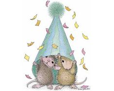 """Amanda and Muzzy"" from House-Mouse Designs® featured on the The Daily Squeek® for September 12th, 2013. Click on the image to see it on a bunch of really ""Mice"" products."
