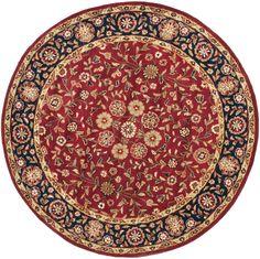 Lucinda Red/Black Oriental Wool Hand-Tufted Area Rug