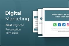 Digital Marketing Keynote Presentation Template is a Flexible, clean, simple, and unique Keynote Template. All elements easy to edit and you can easily change the color to match it with your personal or company brand, Save your time with 7 Premade...