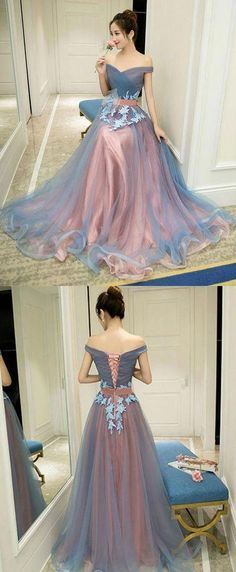 Gray blue tulle off shoulder long prom dress, gray blue . Read more The post Gray blue tulle off shoulder long prom dress, gray blue evening dress appeared first on How To Be Trendy. Elegant Dresses, Pretty Dresses, Beautiful Dresses, Formal Dresses, Sexy Dresses, Wedding Dresses, Wedding Bridesmaids, Casual Dresses, Casual Outfits