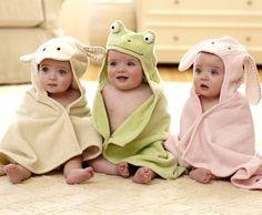 three after their bath