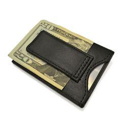 Royce Leather Magnetic Money Clip Wallet, Adult Unisex, Black