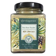 Milaganics Rice Bran Powder 100% Natural 90 Grams