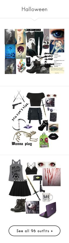 """Halloween"" by abby-white-2 ❤ liked on Polyvore featuring Kate Spade, 7 For All Mankind, Wet Seal, Hot Topic, Jeffrey Campbell, Current Mood, Iron Fist, Sunday Somewhere, Helmut Lang and Lime Crime"