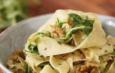 Pappardelle with Olive Oil, Truffle and Walnuts