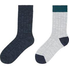 HEATTECH WOMEN Socks - 2 Pairs (Rib)