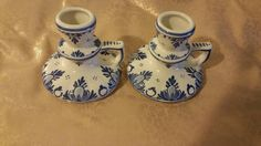 Check out this item in my Etsy shop https://www.etsy.com/listing/251575115/delft-porcelain-candle-holders
