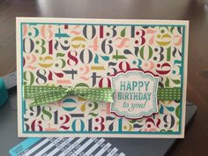 I created this sweet little 3 1/2 x 5 card using the following Stampin' Up! products: Label Love stamp set, Artisan Label punch, Birthday Basics DSP, Very Vanilla, Bermuda Bay and Raspberry Ripple card stocks and Gum Ball Green double stitched ribbon.   http://marycedstamps.stampinup.net