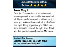 Dear Jim Your continuous education and encouragement is so valuable. You send out all...