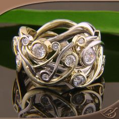 Unique Pierced Curl Band - this is amazing! #jewelryworks #engagement