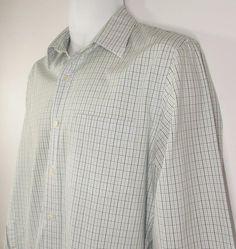 Men J Crew Shirt Haberdashery 80 s 2 PLY Cotton Plaid Long Sleeve Sz Medium EUC