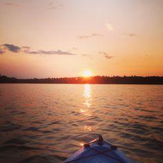 Kayaking at sunset in St. Germain