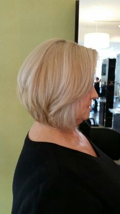 Beautiful Aveda blonde and bob by Ashley Bean