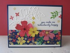 Love and affection stamp set, floral affection embossing folder, DSP, affectionally yours all from Stampin Up.  Card made by Debbie Reed