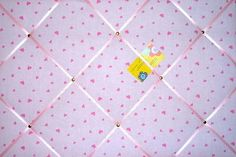 Large Laura Ashley Pink Gingham Hand Crafted Fabric Notice  Pin