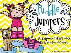 Skip Counting - Puddle Jumpers! $ This would be perfect for centers and giving kids hands-on practice.
