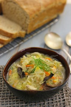 Russian Cabbage and Saurkraut Potato Soup---Shchi