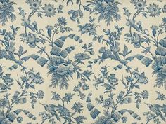 Brunschwig & Fils SHELL TOILE COTTON PRINT MARINE ON WHITE BR-79596.271 - Brunschwig & Fils - Bethpage, NY, BR-79596.271,Brunschwig & Fils,Print,Blue,Blue,S (Solvent or dry cleaning products),Up The Bolt,France,Toile,Multipurpose,Yes,Brunschwig & Fils,No,SHELL TOILE COTTON PRINT MARINE ON WHITE