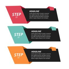 Modern origami step infographics Free Ve. Infographic Template Powerpoint, Powerpoint Design Templates, Layout Template, Web Design, Layout Design, Graphic Design Posters, Graphic Design Inspiration, Le Web, Social Media Design