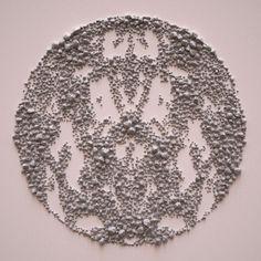 "Great geometric design series entitled ""Stone Fields"" by Italian artist Giuseppe Randazzo"
