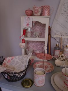 GreenGate Wooden Cabinet Alba decorated with the newest GreenGate designs Stephanie & Bianca