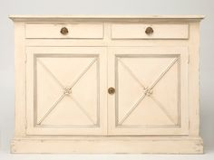 Awesome Petite Directoire Style 2 over 2 Buffet
