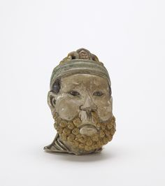 Head of a bearded man Liao dynasty (907 - 1125), man, China, Chinese Art