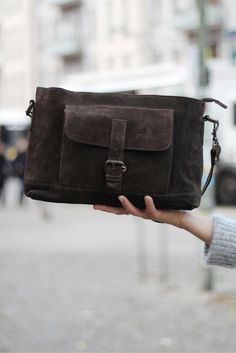 """Hannah"" impresses as a practical bag for the office, or as cool, casual bag for everyday.  Gusti Leather + Handbag + Leather"
