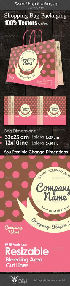 Sweet Bag Packaging - #Packaging Print #Templates Download here: https://graphicriver.net/item/sweet-bag-packaging/4038113?ref=alena994