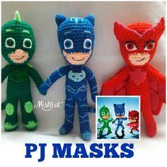 PJ MASKS AMIGURUMI by Misticat #amigurumi #crochet