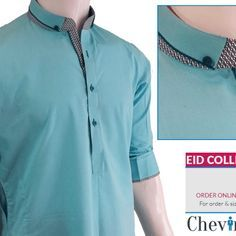 Chevin Shirley Eid Men Kurta Shalwar are trendy and stylish shalwar kameez for this festive occasion check out all the new designs launched by brand. Gents Kurta Design, Boys Kurta Design, Kurta Pajama Men, Kurta Men, Indian Men Fashion, Mens Fashion Wear, Mens Designer Shirts, Designer Clothes For Men, Man Dress Design