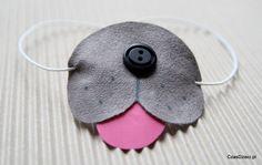 Piesek - mini maska - DIY