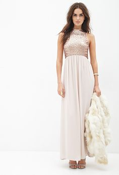 Contemporary Sequined Chiffon Maxi Dress   Forever 21 - 2000056932