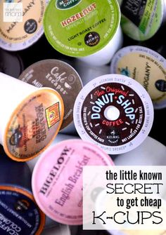 The Little Known Secret On How To Get Cheap K-Cups - Love your Keurig? Hate paying for k-cups? Here is a little known secret on how to get cheap k-cups so you can enjoy premium coffee every day. Saving Ideas, Money Saving Tips, Just In Case, Just For You, Premium Coffee, K Cups, Coffee Love, Coffee Corner, Ways To Save Money