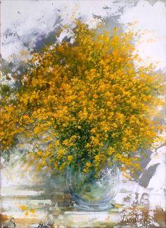 Mimosa  Painting by Antonietta Varallo ✿⊱╮