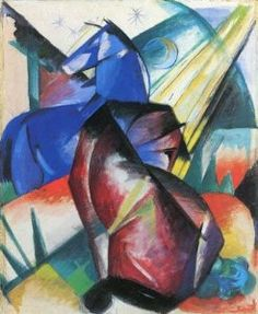 Two Horses, Red and Blue, 1912
