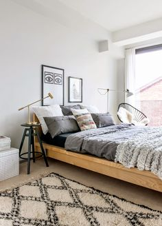 Love that Moroccan Rug! Bright Neutral Bedroom   Laura Seppanen | Pauliina Salonen
