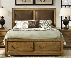 Logan Panel Bed w/ Storage