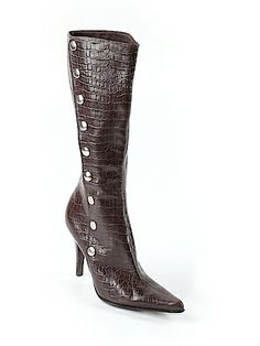 Nine West Boots 7 for $17.49 at Thredup.  They are a consignment store and if you use the link you'll get $10 off. Second Hand Shop, Second Hand Clothes, Cute Boots For Women, Winter Shoes, Nine West, Footwear, Store, Heels, Link
