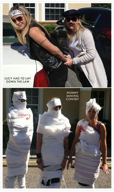 Cop arrests biker, mummy making contest #halloween