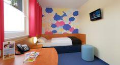 Barrierefreies Zimmer im B&B Hotel Regensburg