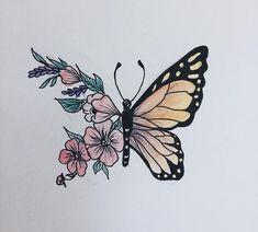 Colors I want Pencil Art Drawings, Art Drawings Sketches, Cute Drawings, Tattoo Drawings, Drawing Art, Aesthetic Painting, Aesthetic Drawing, Butterfly Drawing, Amazing Drawings