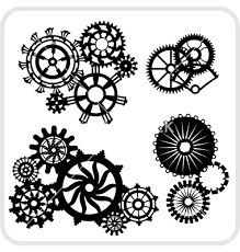 Image result for steampunk gear coloring page