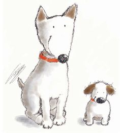 Penny Ives - two doggies
