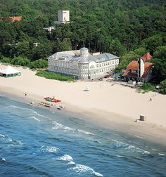 Jurmala, Latvia. I remember walking past that big building & wondering what it was...still don't know. Scratch that, just looked it up: The former Emīlija Rācene beach house (built in 1916)