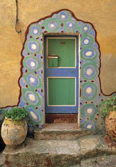 A beautiful door in Corsica