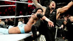 The Prime Time Players vs. Seth Rollins & Roman Reigns – #WWE Tag Team Championship Match: photos