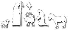Frantic Stamper Precision Die - Nativity Silhouette Set